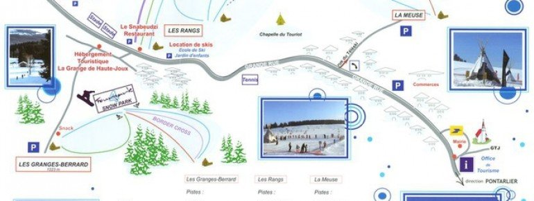 Trail Map Les Fourgs