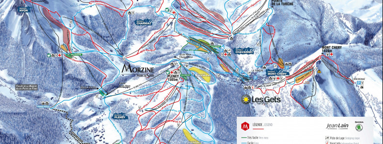 Trail Map Les Gets