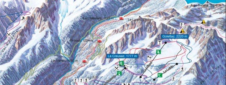 Trail Map Les Marecottes