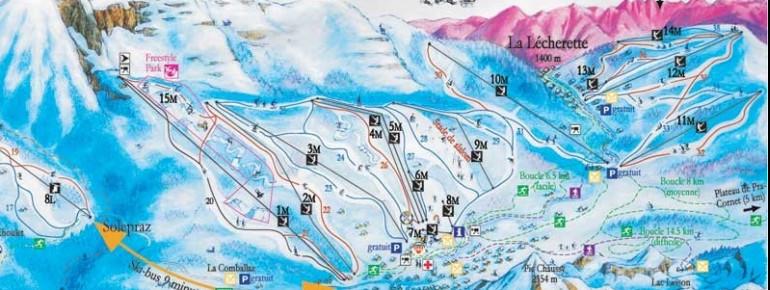 Trail Map Les Mosses La Lecherette