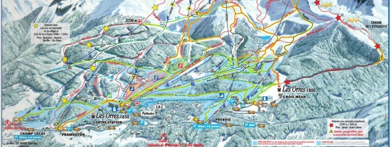 Trail Map Les Orres