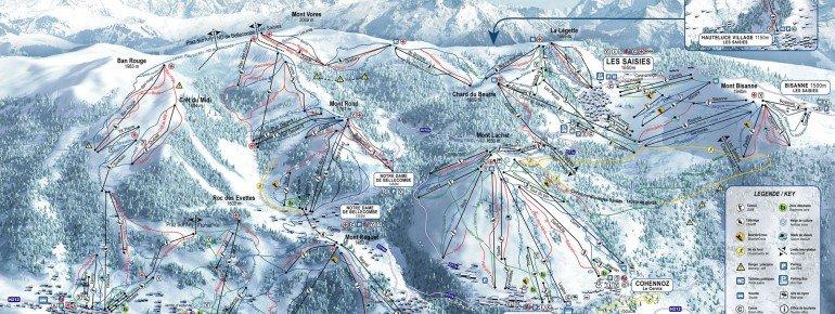 Trail Map Les Saisies