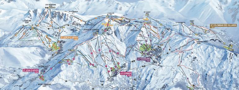 Trail Map Les Sybelles