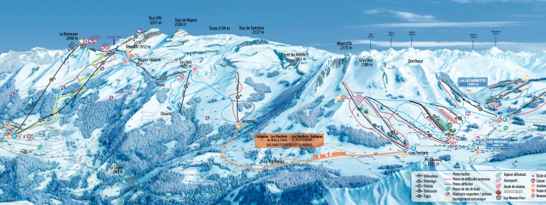 Trail Map Leysin