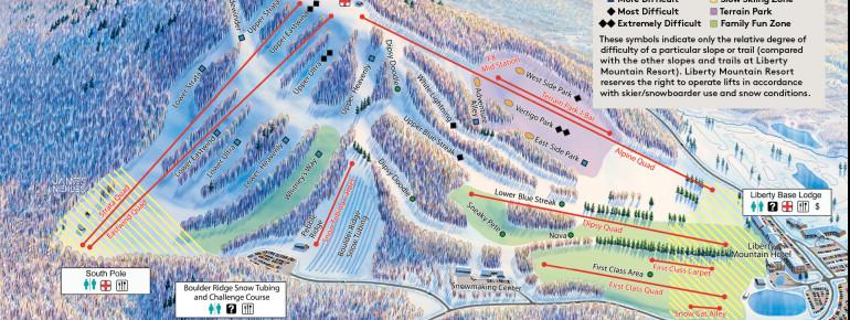 Trail Map Liberty Mountain Resort