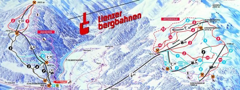Trail Map Lienz - Hochstein - Zettersfeld
