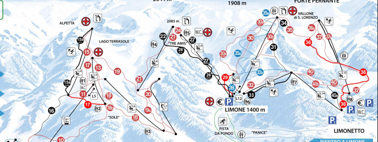 Trail Map Limone Piemonte - Riserva Bianca