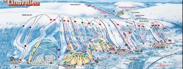 Trail Map Lindvallen Högfjället