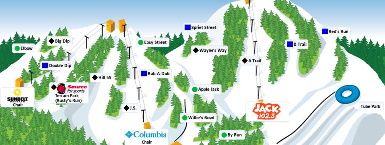 Trail Map Boler Mountain