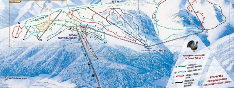 Trail Map Luchon Superbagneres