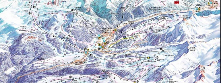 Trail Map Campiglio Dolomiti
