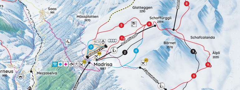 Trail Map Madrisa Klosters