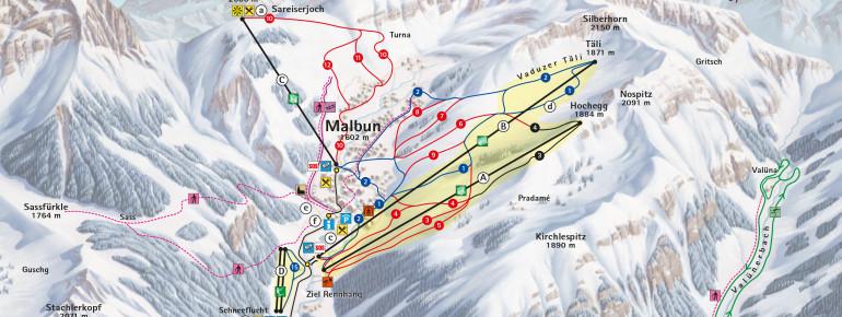Trail Map Malbun Triesenberg