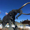 The Iron Mammoth, the landmark of Mammoth Mountain.