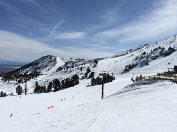 View from the top station of Broadway Express: The slopes are ideal for beginners and ski novices.