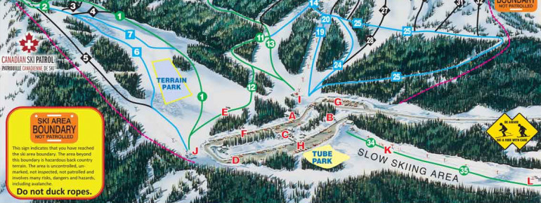 Trail Map Manning Park Resort