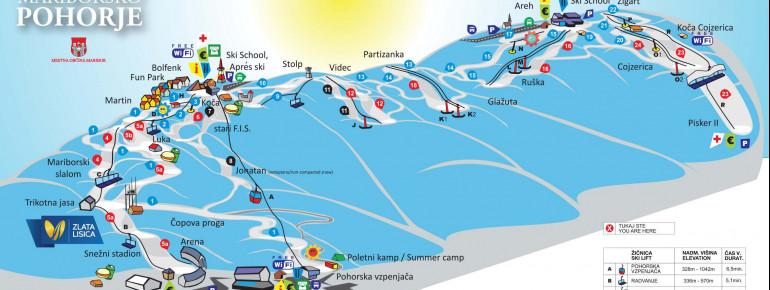 Trail Map Maribor Pohorje