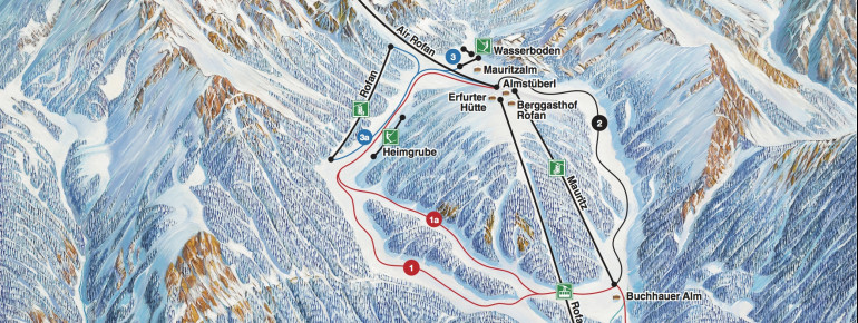 Trail Map Maurach am Achensee