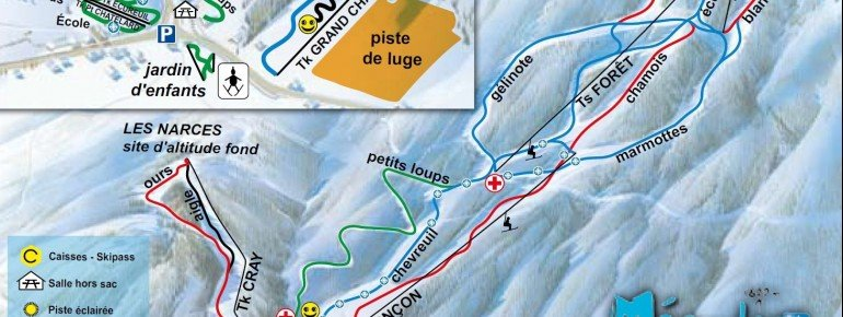 Trail Map Meaudre