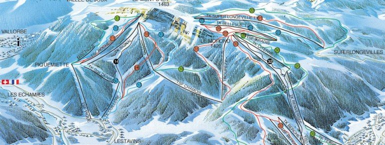 Trail Map Metabief