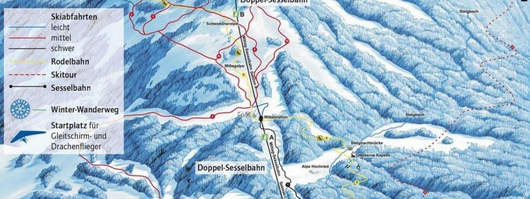 Trail Map Mittag Skicenter