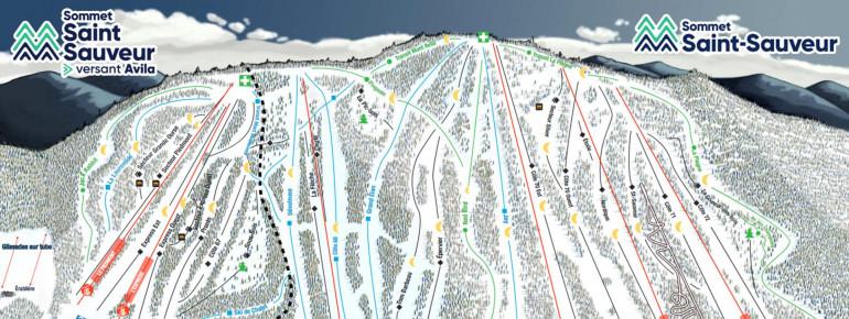 Trail Map Mont Saint Sauveur