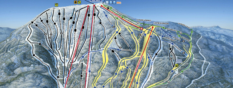 Mont Sainte Anne Canada Map Mont Sainte Anne Trail Map • Piste Map • Panoramic Mountain Map