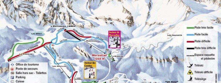 Trail Map Mont Saxonnex
