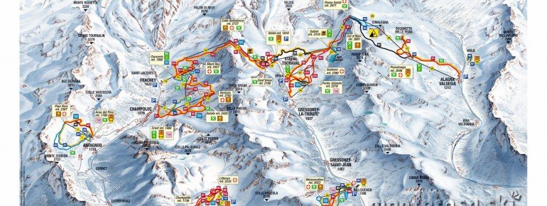 Trail Map Monterosa
