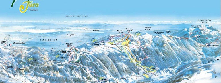 Trail Map Monts Jura