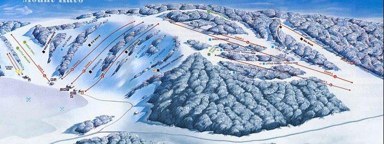 Trail Map Mount Kato Ski Area