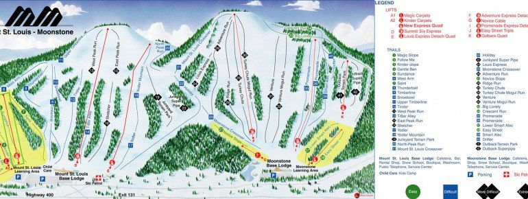 Trail Map Mount St Louis Moonstone