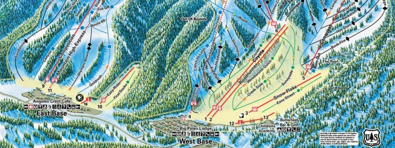 Trail Map Mountain High Resort