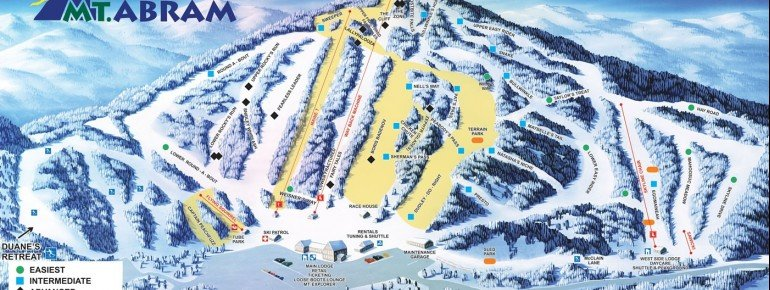 Trail Map Mt Abram Ski Resort