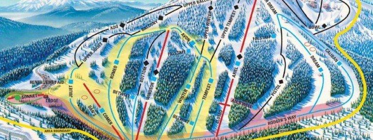 Trail Map Mt Ashland Ski And Snowboard Resort