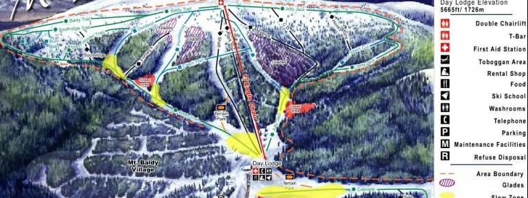 Trail Map Mt Baldy Family Ski Area