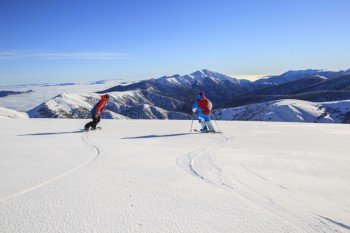 Mt Hotham boasts activities and terrain for both ski newbies and seasoned skiers.