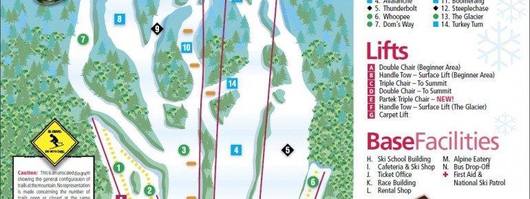 Trail Map Mt Southington Ski Area