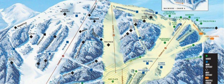 Trail Map Mt Spokane Ski Area