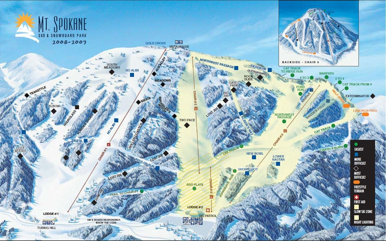 mt spokane ski area • ski holiday • reviews • skiing