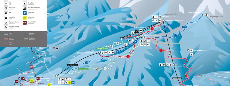 Trail Map Mutterer Alm