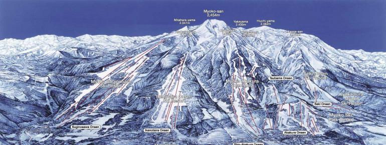 Trail Map Myoko Kogen
