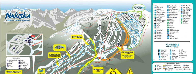 Trail Map Nakiska Ski Resort