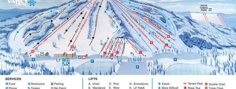 Trail Map Nashoba Valley Ski Area