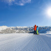 Fantastic slope conditions guarantee a successful day's skiing.