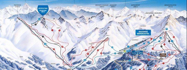 Trail Map Nauders Reschenpass