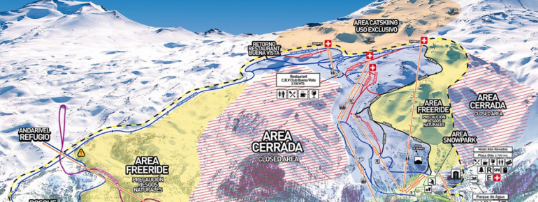 Trail Map Nevados de Chillan