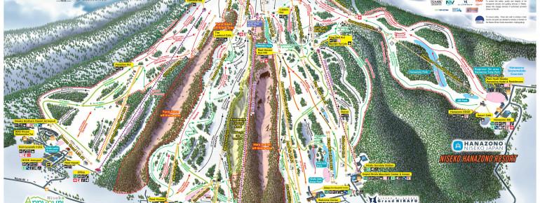Trail Map Niseko United (Hanazono - Grand Hirafu - Niseko Village - Annupuri)