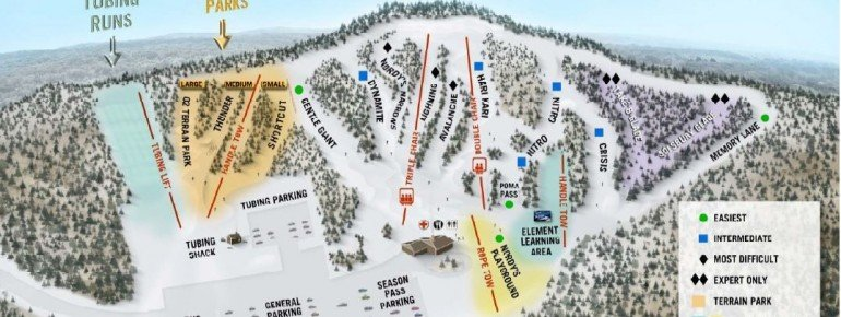 Trail Map Nordic Mountain