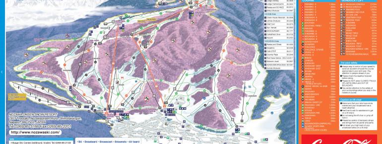 Trail Map Nozawa Onsen